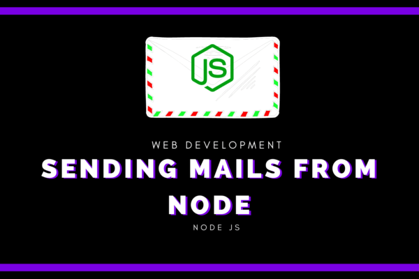 Sending mails from node js web application