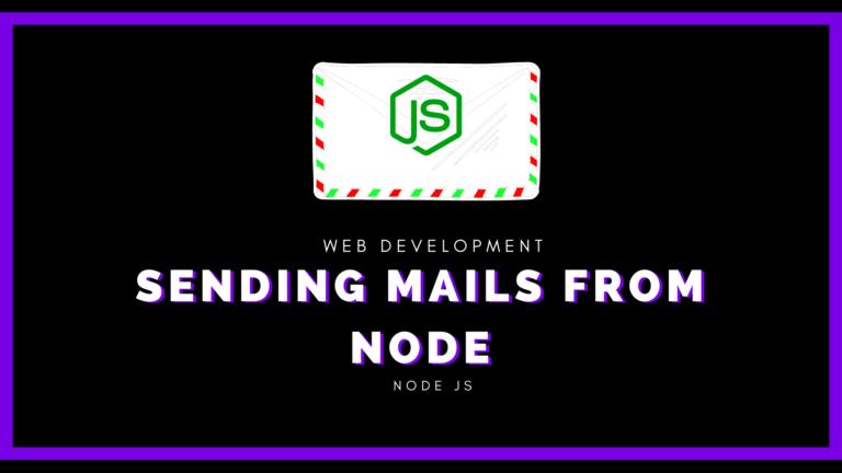 Sending mails from node js
